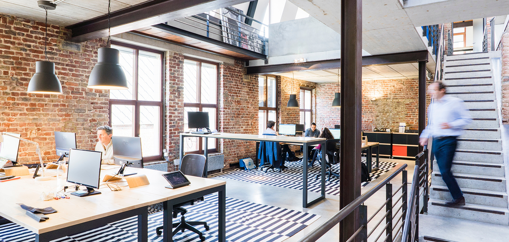 Image of open plan socially distanced office